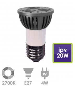 E27 LED 4W Warm wit