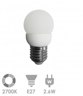 E27 LED 2.6W Warm wit