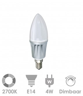 E14 LED 4W Warm wit - dimbaar