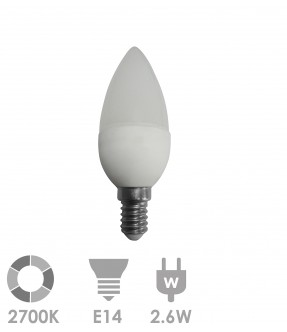 E14 LED 2.6W Warm wit