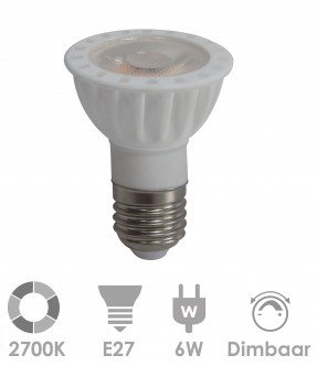 E27 LED 6W Warm wit