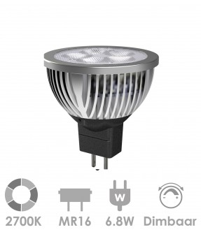 MR16/GU5.3 LED 6.8W Warm wit - dimbaar