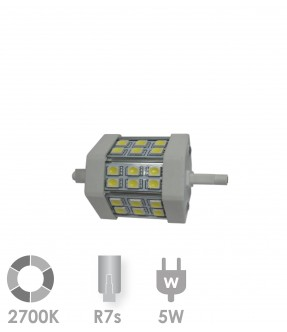 R7s LED 5W Warm wit