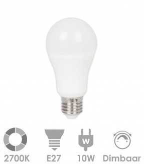 E27 LED 10W warm wit - dimbaar