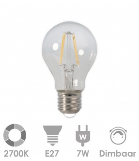 E27 LED 7W warm wit - dimbaar