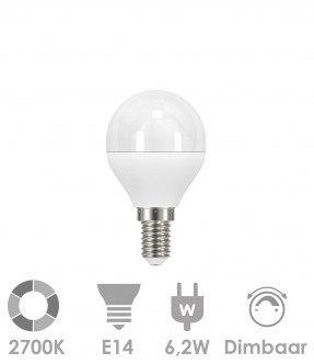 E14 LED 6,2W Warm wit - dimbaar