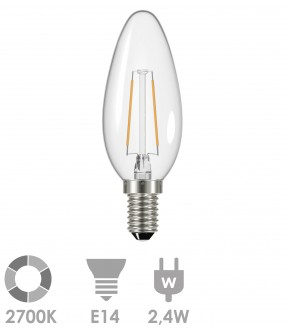 E14 LED 2,4W Warm wit