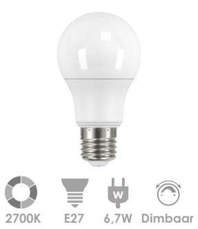E27 LED 6,7W Warm wit - dimbaar