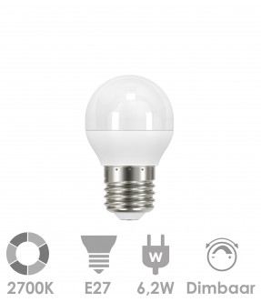 E27 LED 6,2W Warm wit - dimbaar