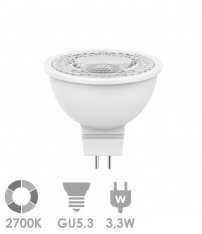 MR16/GU5.3 LED 3,3W Warm wit